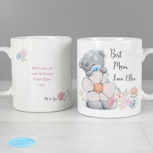 Personalised Me to You Floral Mum Mug